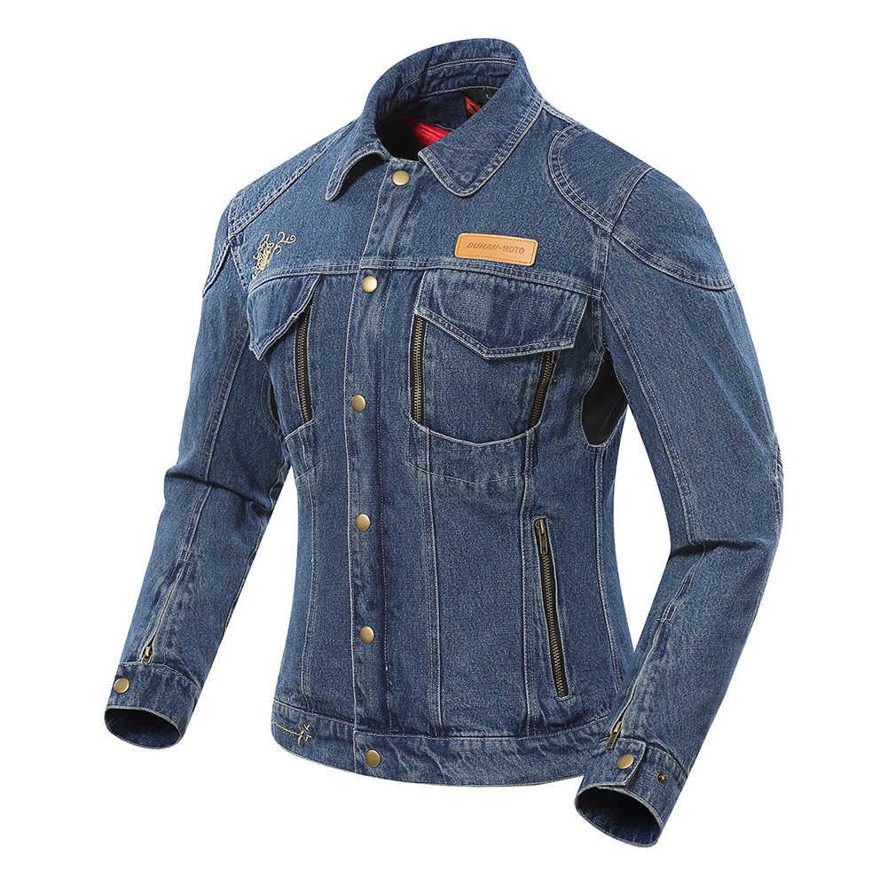 Giacca Moto Duhan Donne Moto Giacca di Jeans Autunno Inverno Equipaggiamento Protettivo a Prova di Freddo Tenere in Caldo Abbigliamento Moto