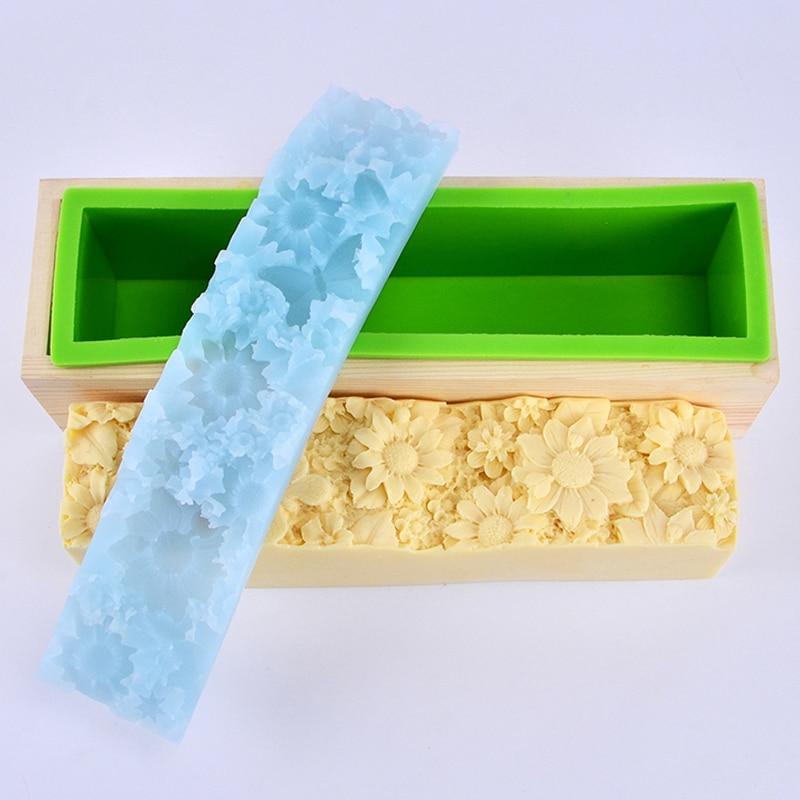 Rectangular sapun de silicon mucegai cu transparent verticale acrylic - Arte, meșteșuguri și cusut - Fotografie 4