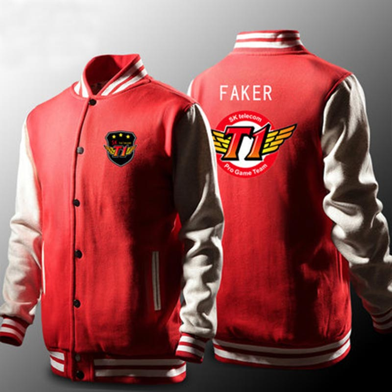 Lovely Skt Jacket Men Lol Skt T1 Hoodies Fleece Faker Peanut Hoodie Polerones Hombre Wolf Skt Bang Sudaderas Para Hombre Sweatshirt Z20 Firm In Structure Men's Clothing