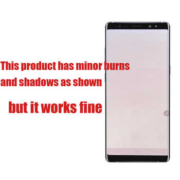 ORIGINAL 6.3\'\' Display with Burn-Shadow LCD for SAMSUNG Galaxy Note8 N9500 N950F N900D N900DS Touch Screen Digitizer with Frame