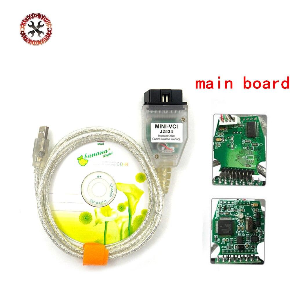 Mais recente V10.30.029 MINI VCI Interface PARA TOYOTA TIS Techstream J2534 OBD2 OBDII Ferramenta de Diagnóstico
