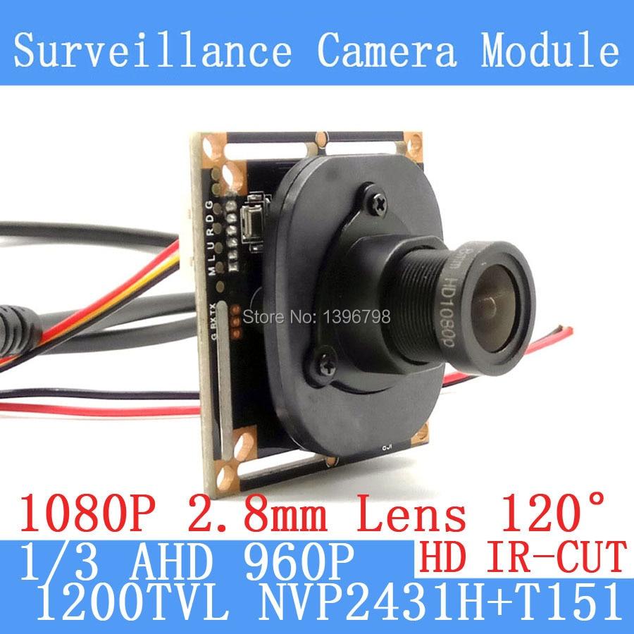 1.3MP 1280*960 AHD CCTV 960P mini Camera Module 1/3 1200TVL 2.8mm wide-angle 120 degree surveillance camera ODS/ BNC Cable