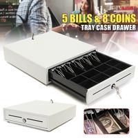Электронный кассовый ящик кассовые pos лоток 5 Билла 8 Монеты Heavy Duty хранения кассовый аппарат лоток коробка классифицировать магазин денежны