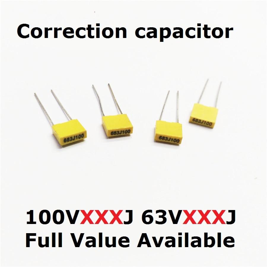 50pcs 630v 2j472j 2j103j 2j223j 2j333j 2j473j Polyester Capacitor 22 10pcs Ams1117 33v 1a Voltage Regulator Electrodragon 20pcs Correction 100v 153j 124j 105j 63v 154j 224j 334j