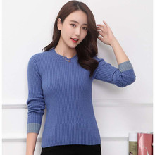 LHZSYY Womens New 100%Pure Cashmere Sweater Fashion O Neck Knit High-end Pullover 2019Autumn Winter Warm Slim Bottoming