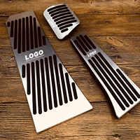 Car accessories No drilling Aluminum Alloy Brake Pedal plate for BMW New X5 X6 Z4 F10 F15 F30 F31 F34 E46 E90 E60 G30metal pedal