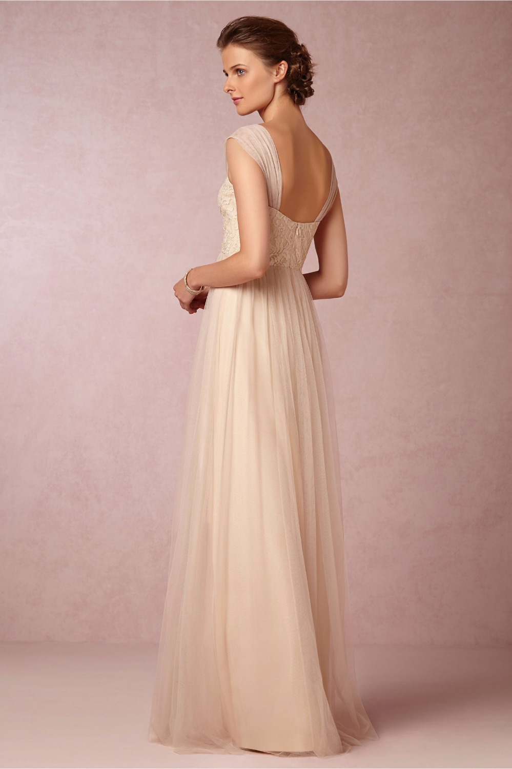 Cheap 2016 long nude color lace bridesmaid dress with cap sleeve a cheap 2016 long nude color lace bridesmaid dress with cap sleeve a line sexy sweetheart tulle belt sashes wedding party dresses in bridesmaid dresses from ombrellifo Images