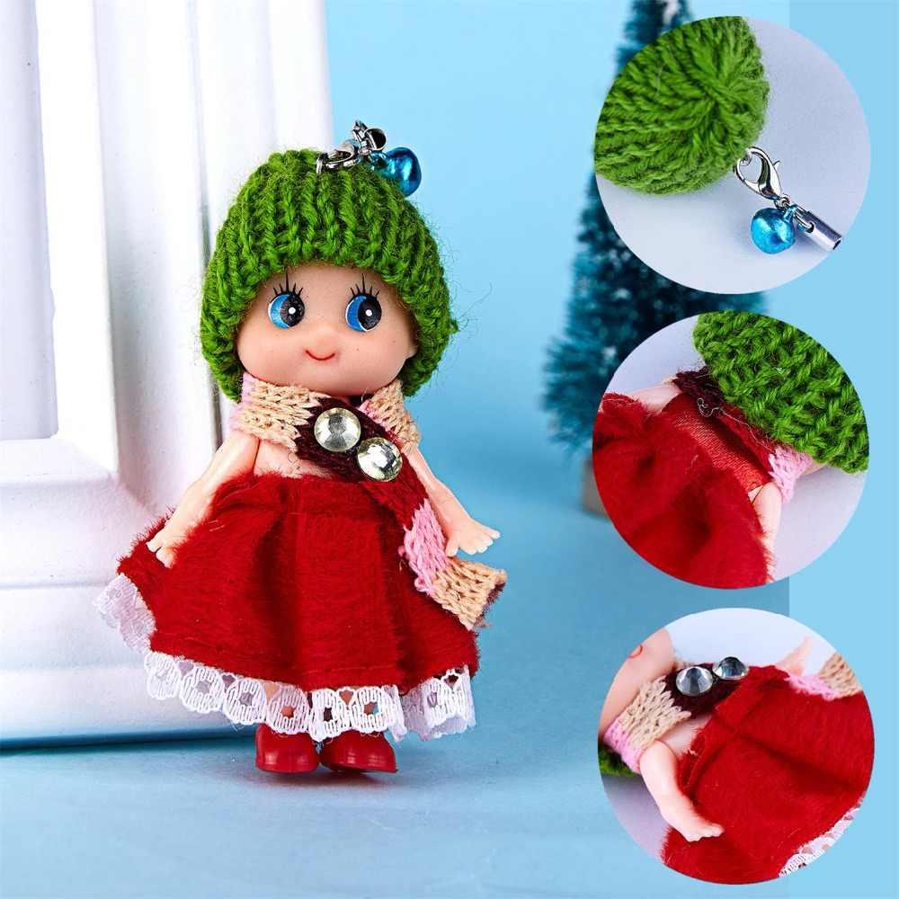 1 sztuk losowe kolorowe Mini spódnica lalka wisiorek śliczny romantyczny kapelusz Clown lalki mobilna telefon brelok dla dziewczynek dzieci Party prezenty