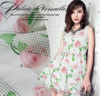 2016Clear brand romantic damask fashion dress skirts shirt fabrics