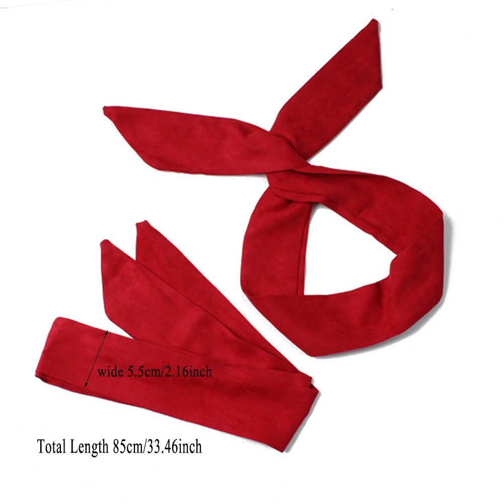 1PC קוריאני זמש רטרו מוצק צבע סרטי ראש אוזני ארנב צלב קשת Hairbands מתכת חוט צעיף בגימור שיער נד אבזרים