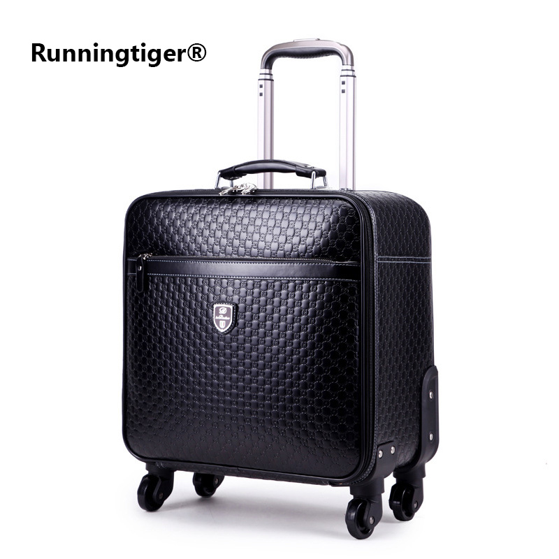 цена на 162024 inch Luggage Suitcase bag,Waterproof PU leather Travel Box with Wheel ,Rolling Trolley case Luggage Business suitcase