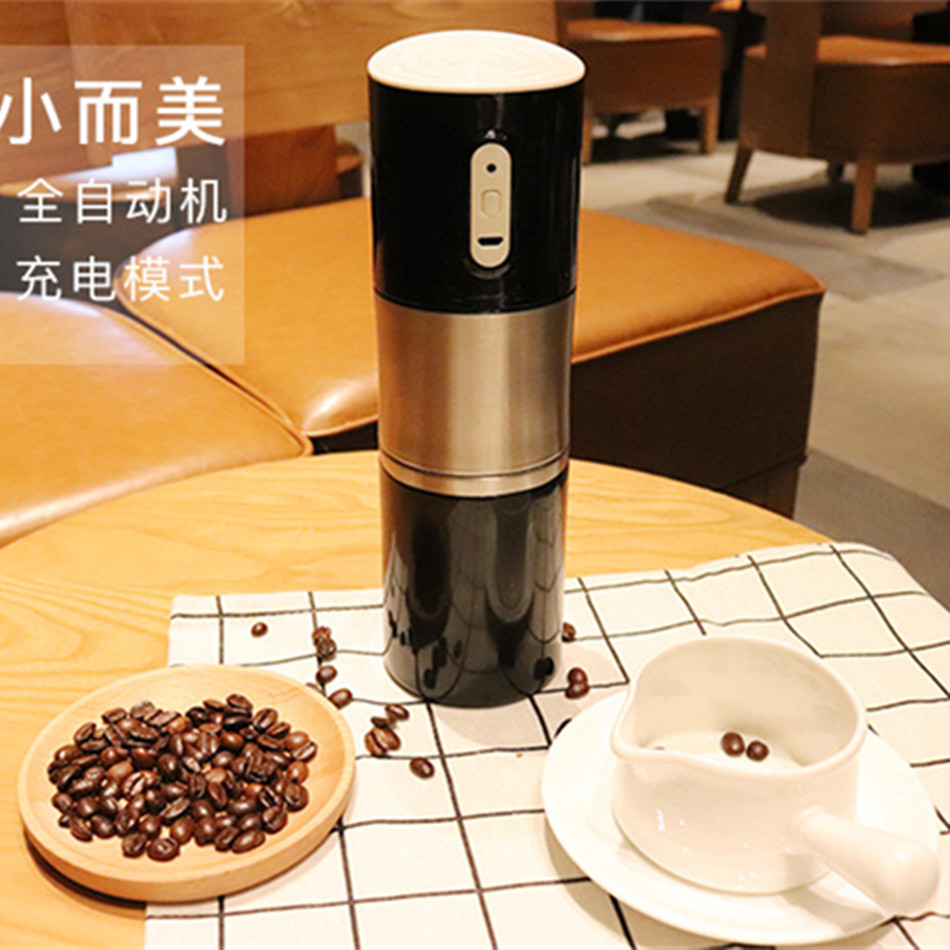 FD-8101 Automatic Italian Coffee Maker Pot USB Rechargeable Stainless Steel Thermal Espresso Heating Machine Cafe Bean Grinder