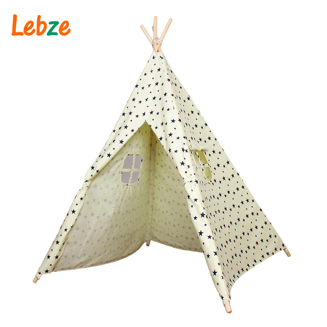 Tent For Kids Cotton Canvas Indian Teepee Star Pattern Play Tent For Kids Childrenu0027s Playhouse Baby  sc 1 st  AliExpress.com & Tent For Kids Cotton Canvas Indian Teepee Star Pattern Play Tent ...