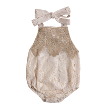 2017 Cute Baby Rompers Summer Newborn Baby Girl Lace Jumpsuit Toddler Infant Girl Romper Sleeveless Kids Girl Clothes Sunsuit