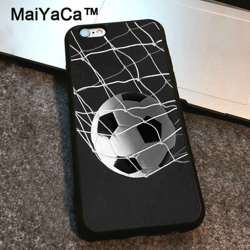 MaiYaCa Soccer Ball in Net Football Futbol Goal Case For iPhone 6 6S Plus TPU Shell Phone Case for iPhone 6 Plus Back Cover