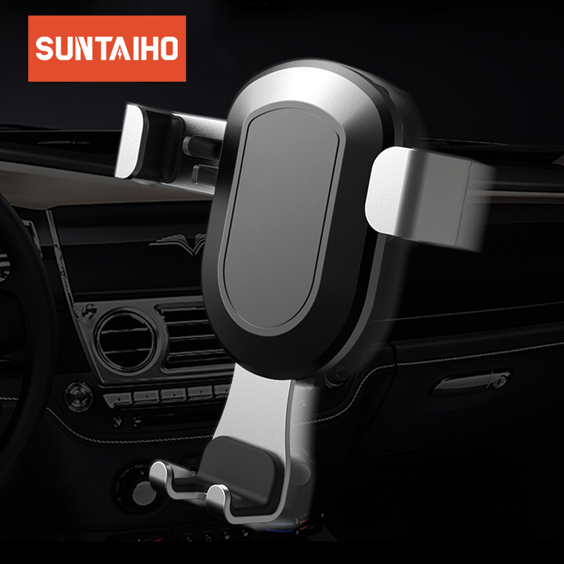 Suntaiho Car Phone Holder for iPhone X 6 7 8 Air Vent Mount Gravity Car Phone Holder for Samsung S9 S8 Plus Note 8 Huawei P20