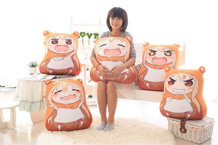 Kawaii Sankaku Head Himouto Umaru Chan Umaru Doma Cosplay MARMOT Velvet Puppets And Humanoid Plush Stuffed Animal Kids Toys Doll marmot tungsten 4p tent