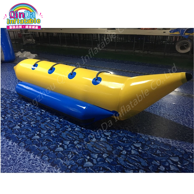 Single Tube Inflatable Banana Boat For 4 Persons Sit On Top Plastic Kayak Boat Flying Towables Pvc Motor Boat