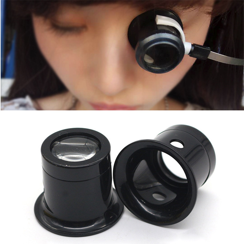 Jeweler Watch Magnifier Tool 10X Monocular Magnifying Glass Loupe Lens Eye Magnifier Len Repair Kit Tool