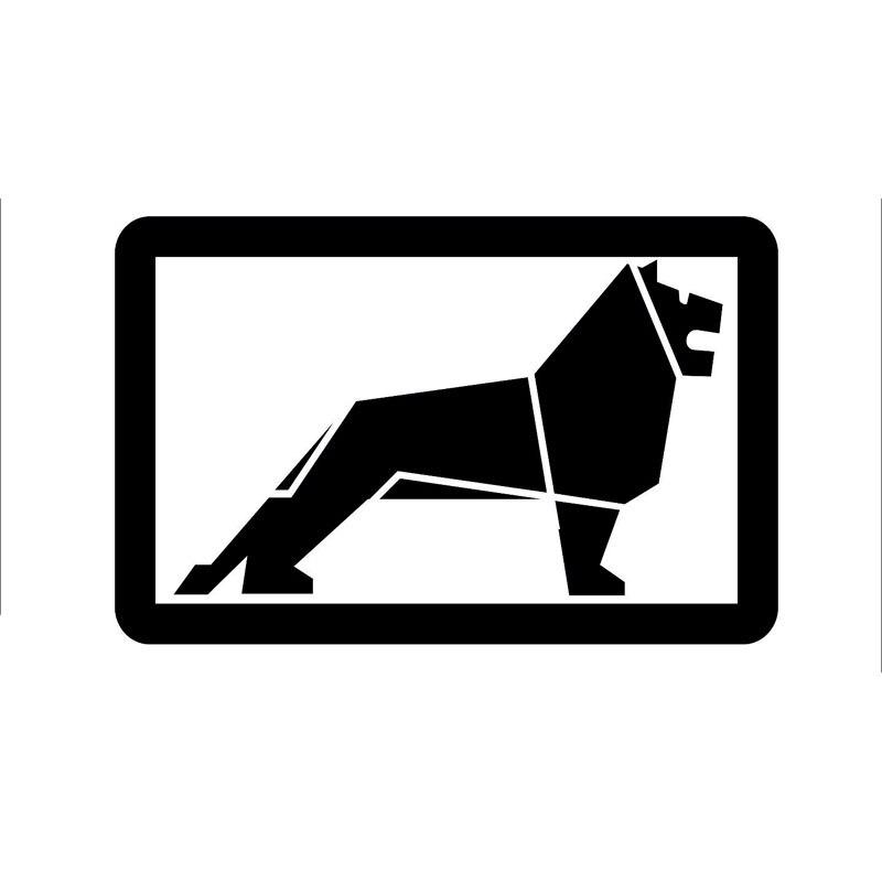 14.1X9.1 см Лев предупреждающие знаки черный, серебристый цвет виниловая наклейка автомобиля Стикеры автомобиль-Стайлинг s6-2132