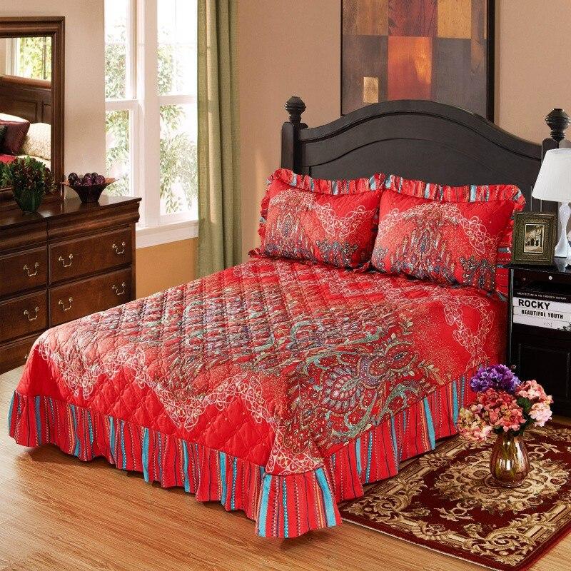 Adaptable Couvre Lit Colcha De Cama Katoen Sprei King Queen Size Bed Cover Set Bed Spread Matras Topper Deken Kussensloop