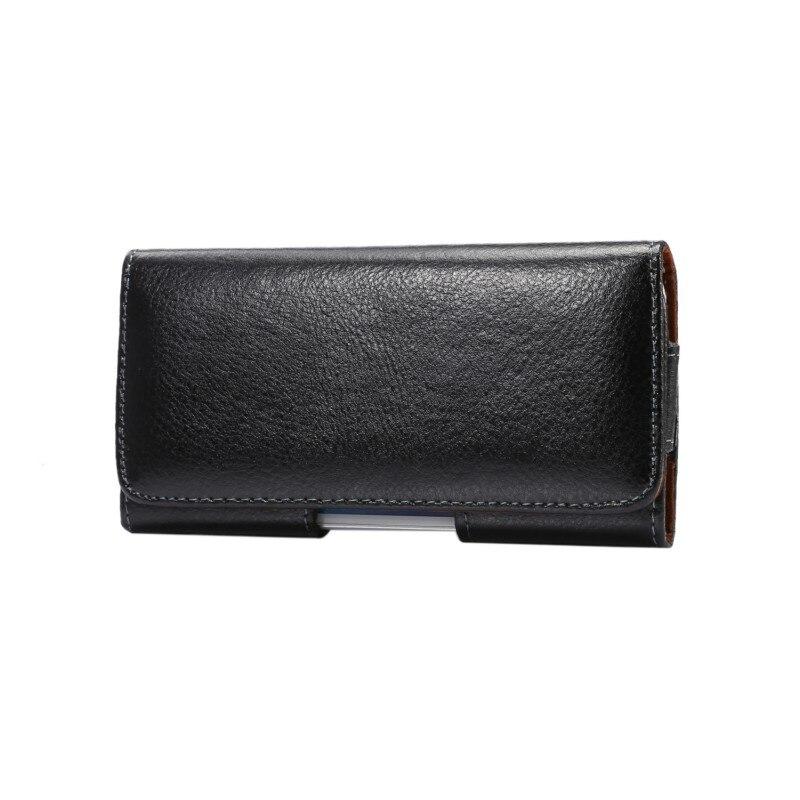 imágenes para Clip de cinturón de cuero genuino bolsa de la cubierta case para xiaomi mi 5c/redmi 4x/redmi 4a/redmi 4/3x/3 s/3 pro/mi 4s/redmi 3/mi 4c 5 pulgadas