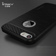 Оригинал iPaky Новый Чехол Для Apple iPhone 5s 5 Углеродного Волокна текстура Матовый Мягкий Силиконовый Вернуться Тпу Для iPhone SE 5SE