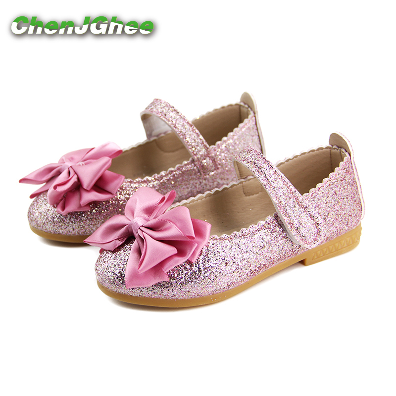 Elegant Girls Shoes Fashion Princess Flat Shoes For Kids Toddler Girl Big Children Flats ...