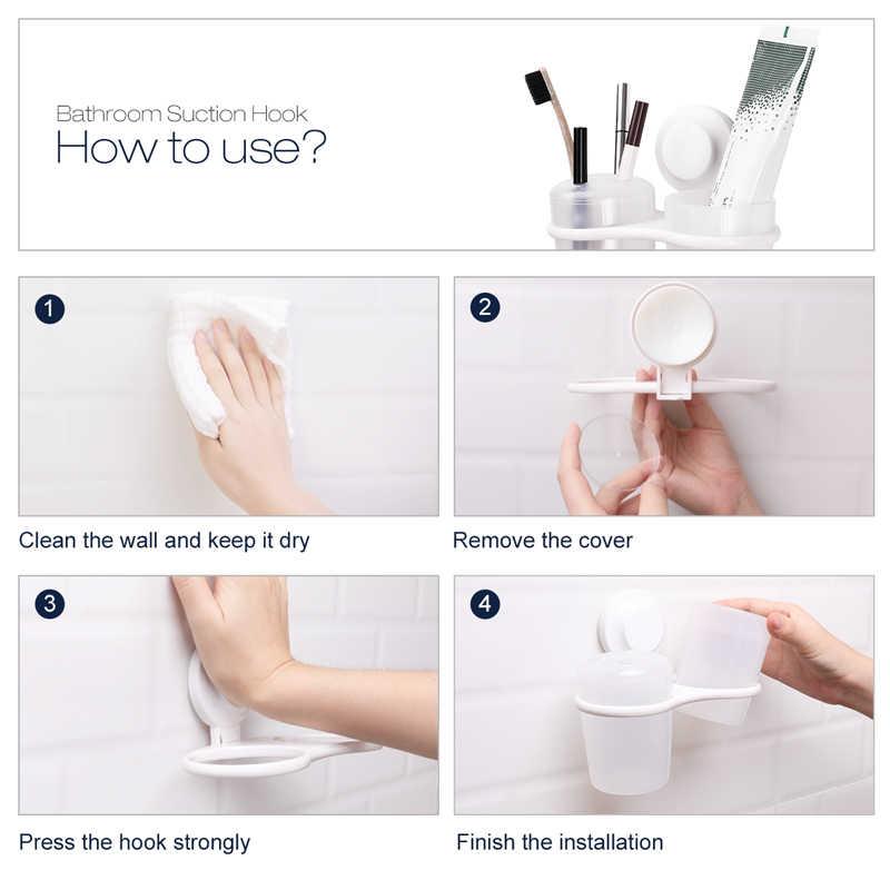 TAILI szczoteczka do zębów uchwyt ścienny ssania kubki prysznic uchwyt łazienka uchwyt do golenia akcesoria do dekoracji łazienki