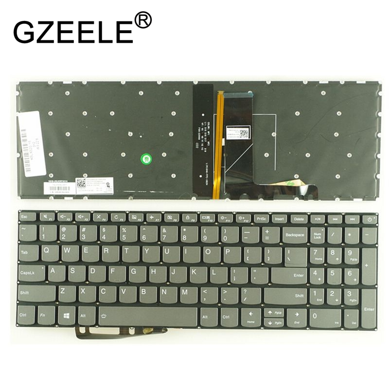 купить GZEELE US keyboard for Lenovo IdeaPad 320-15 320-15ABR 320-15AST 320-15IAP 320-15IKB 320S-15ISK 320S-15IKB laptop Backlit