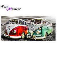 Ever Moment Diamond Painting Camper Van DIY 5D Diamond Embroidery Cross Stitch Needlework Full Complete Mosaic