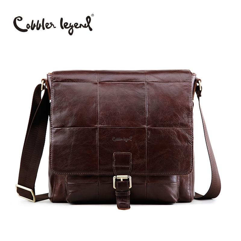 Cobbler Legend Famous Brand Men's Cow leather Cross Body Messenger Bag For Man 2018 New Men's Travel Shoulder Handbags Bags10031