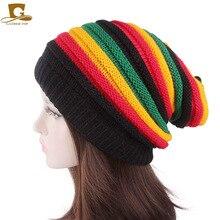 GATHERTOP Winter unisex Warm Multi-Color skull Acrylic Reggae Baggie knit  Beanie Hat f2cb3520fde6