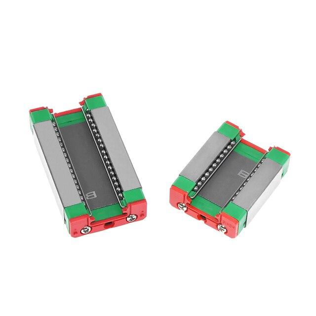 Riel lineal CNC MGN12 MGN15 MGN9 100, 200, 300, 350, 400, 450, 500, 600 mm miniatura de carril lineal deslizante para cnc máquina de 3d impresora