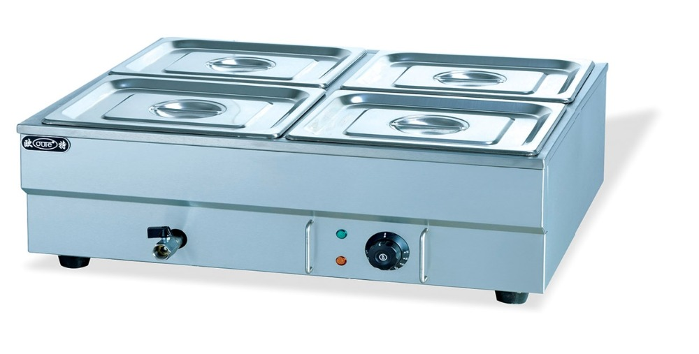 Electric 4 Pans Bain Marie Stainless Steel, 1.5kw Restaurant Tabletop Food  Warmer, Kitchen Food Heating Equipment With Water Tap In Tureens From Home  ...