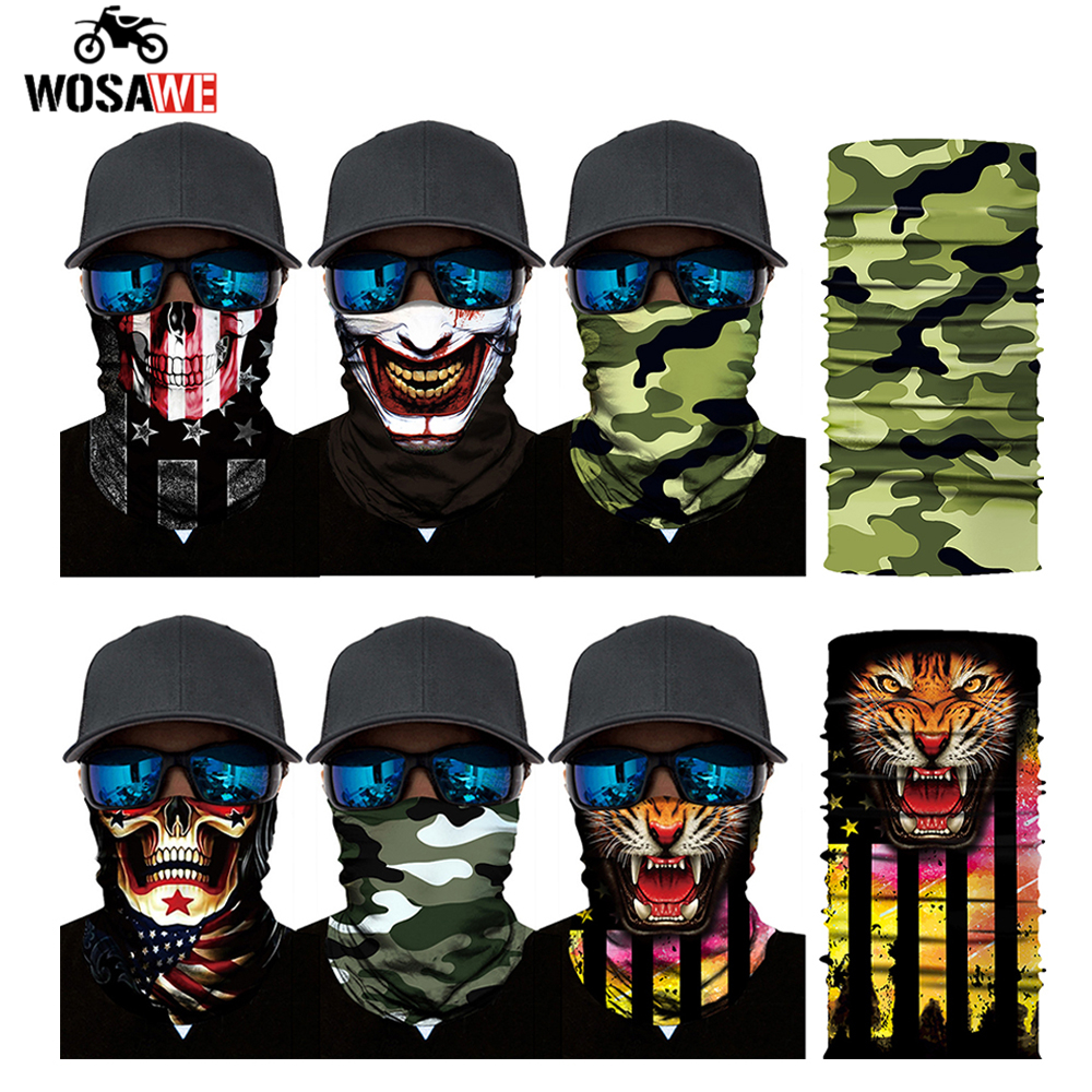 Motorcycle Face Mask Motorbike Headwear Riding Scarf Cycling Neck Headband Fullface Shield Mask Moto Helmet Bandana Motera Cap image
