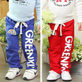New 2014 Children pants girls boys sport full length pants spring autumn letter boys clothing baby trousers kids casual pants