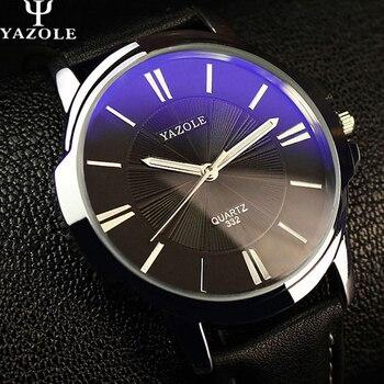 YAZOLE спортивные мужские часы люксовый Топ бренд деловые мужские часы простые наручные часы для отдыха модные кожаные кварцевые часы Relogios >> Timer store