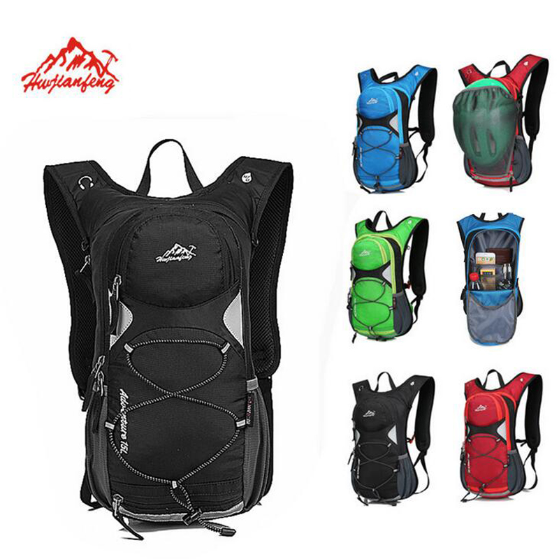 Hwjianfeng Nylon 15L Sports Bag Cycling Bag Outdoor Hiking Running backpack Mountain Bike Backpack