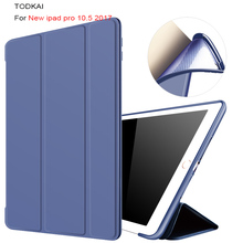 Купить с кэшбэком For New iPad Pro 10.5 inch 2017 case Ultra Slim PU leather Smart Cover Case Magnet wake up sleep for iPad Pro10.5+film+stylus
