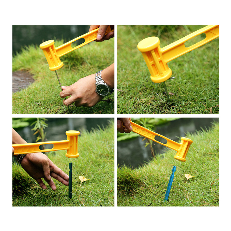 Outdoor Plastic Hammer Knocking Camping Nails Portable Ultra Light Weight Hammer
