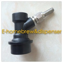 Free Shipping One  piece disconnect liquid out ball lock coupler with 1/4MFL thread - flare,1/4barb