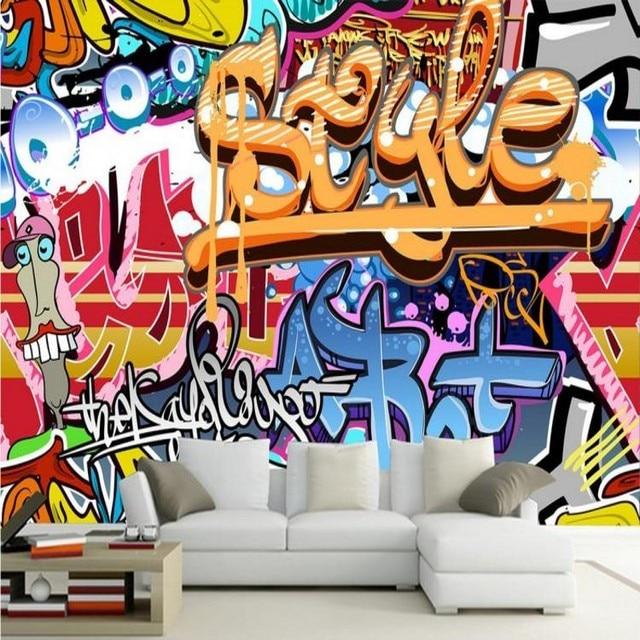 Custom 3d mural 3D European style graffiti wallpaper mural music hall dance studio retro personality wallpaper