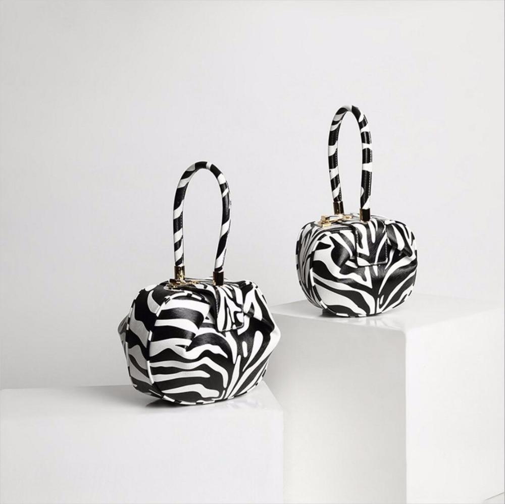 HONGU 2018 women handbag Zebra pattern casual tote bag female small HOBOS bag purse striped bags party Bag $