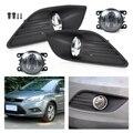 Beler Alta Qualidade Inferior Bumper 2 Pcs Direita/Esquerda Luz de Nevoeiro Grade + 2 Pcs Kit Lâmpada para Ford Focus Sedan 4 portas 2009 2010 2011