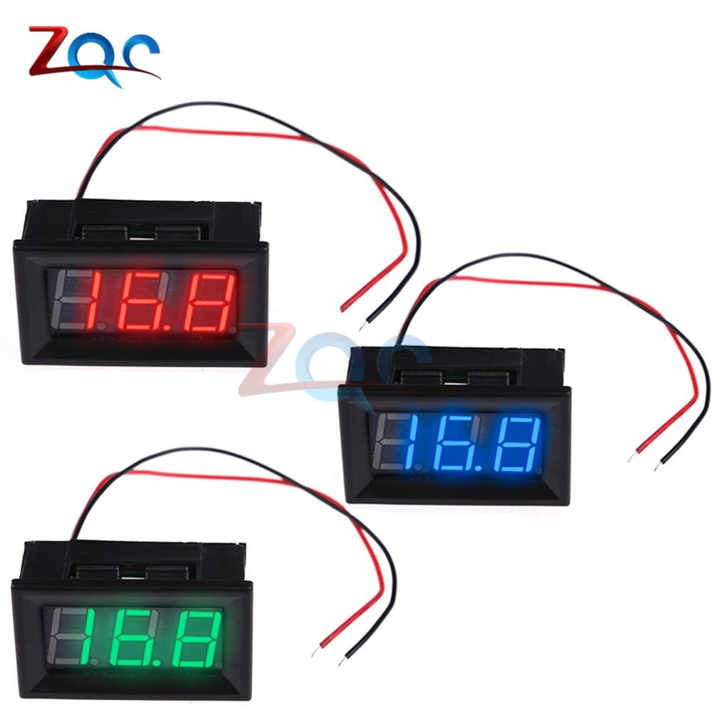 DC 5-120V 2 Wire 0.56'' Mini LED Digital Voltmeter Voltage Meter Volt Detector Tester Monitor For Vehicle Car Auto 36V 24V 48V