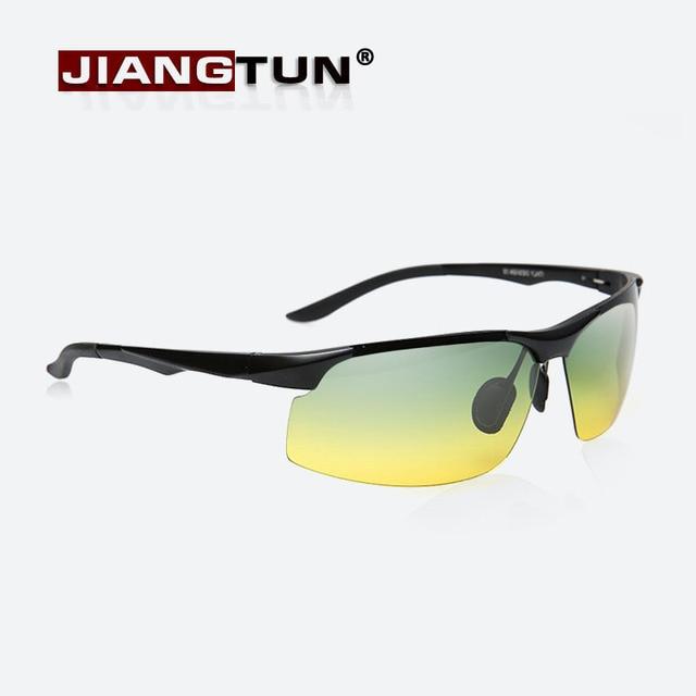 JIANGTUN Alumínio Dia e Noite Polarizada óculos de Condução Dos Homens  Óculos De Sol Da Marca f7113b7bce