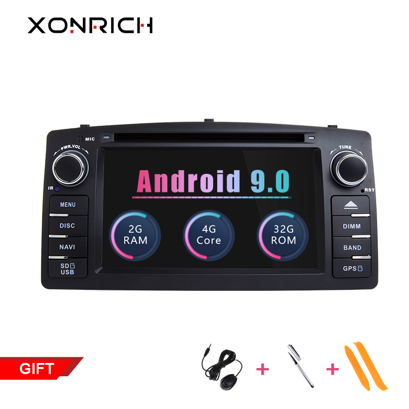 2 Din Android 9.0 Car DVD Player For Toyota Corolla E120 BYD F3 2003 2004 2005 Multimedia GPS Radio Navigation Wifi OBD2 2+32GB image