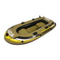 Intex Excursion 2 4 человек надувная лодка комплект с алюминиевыми веслами и высоким выходом воздушный насос (последняя модель)