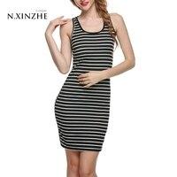 2017 New Fashion Women Dresses Sexy Women Casual Slim Striped Party Bodycon Mini Dress OL Shopping